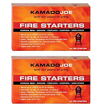 10. Kamado Joe KJFS Fire Starters - 24 Count - 2 Pack