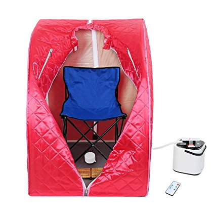 2. AW Portable Large Chair Red Personal Therapeutic Steam Sauna