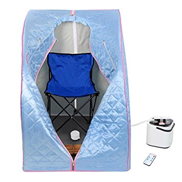 7. AW Portable Large Chair Blue Personal Therapeutic Steam Sauna