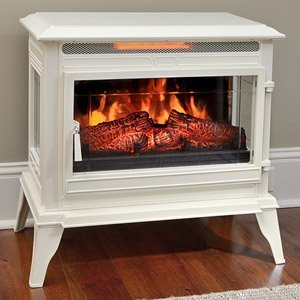 6. Comfort Smart Jackson Cream Infrared Electric Fireplace Stove