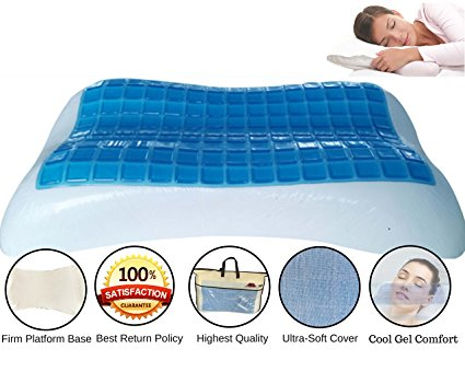 2. Memory Foam Contour Gel-Topped Pillow by FOMI Care