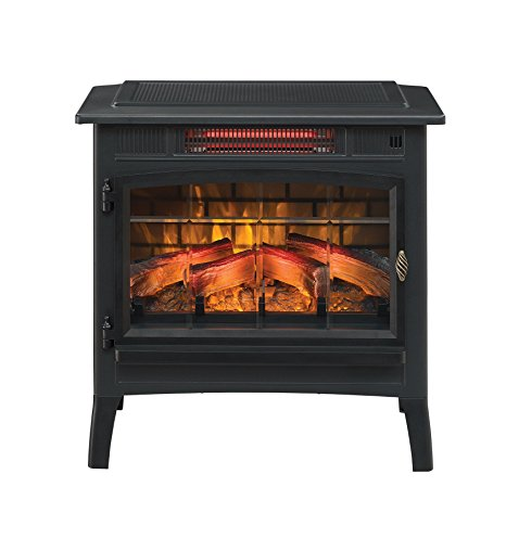 1. Duraflame DFI-5010-01 Infrared Quartz Fireplace Stove with 3D Flame Effect