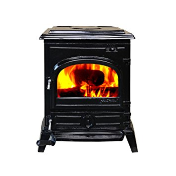 7. HiFlame EPA approved 1,200 Square Feet cast iron wood burning stove