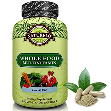 9. NATURELO Whole Food Multivitamin for Men