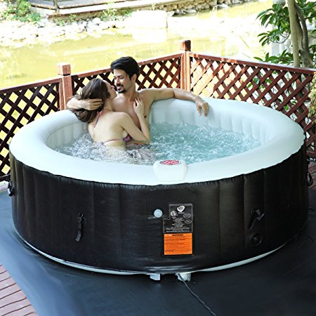 5. Goplus 6 Person Portable Inflatable Hot Tub
