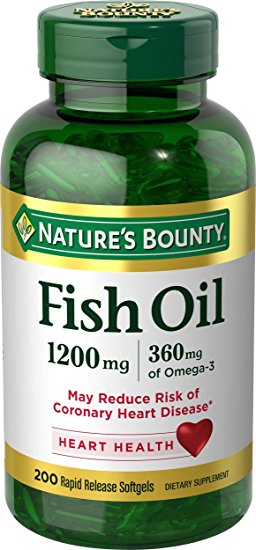 2. Nature's Bounty Fish Oil 1200 mg Omega-3