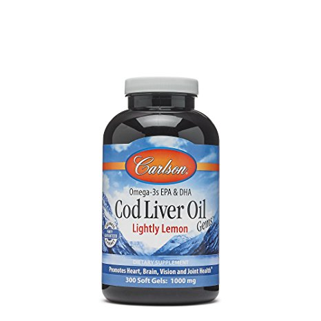 10. Carlson Lightly Lemon Cod Liver Oil
