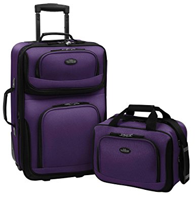 7. U.S Traveler Rio Two Piece Expandable Carry-on Luggage Set