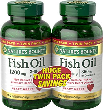 9. Nature's Bounty Fish Oil 1200 mg Twin Packs