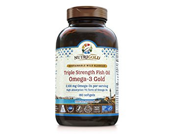 3. Nutrigold Triple Strength Omega-3 Gold Fish Oil Supplement