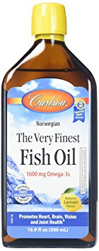 7. Carlson Labs Very Finest Liquid Fish Oil 16.9 Fl. Oz