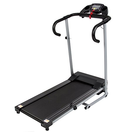 8. Best Choice Products Black 500W Portable Folding Electric Motorized Treadmill