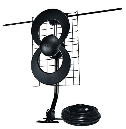 10. ClearStream 2V Indoor/Outdoor HDTV Antenna with Mount and 30ft Cable