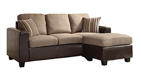 8. Homelegance 8401-3SC Reversible Sofa Chaise with 2 Pillows