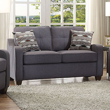 10. ACME Furniture 53791 Cleavon II Loveseat with 2 Pillows