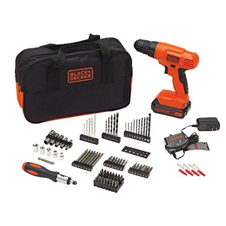 5. BLACK+DECKER BDC120VA100 20-Volt MAX Lithium-Ion Drill Kit with 100 Accessories