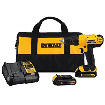2. Dewalt DCD771C2 20V MAX Cordless Lithium-Ion 1/2 inch Compact Drill Driver Kit