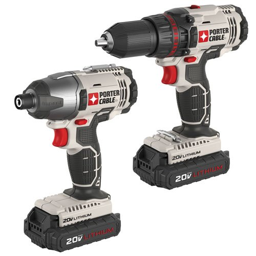 6. PORTER-CABLE PCCK604L2 20V Max Lithium Ion 2-Tool Combo Kit