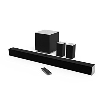4. VIZIO SB3851-C0 38-Inch 5.1 Channel Sound Bar with Wireless Subwoofer and Satellite Speakers
