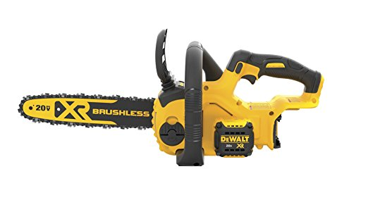 2. DEWALT DCCS620B 20V Max Compact Cordless Chainsaw Kit Bare Tool with Brushless Motor