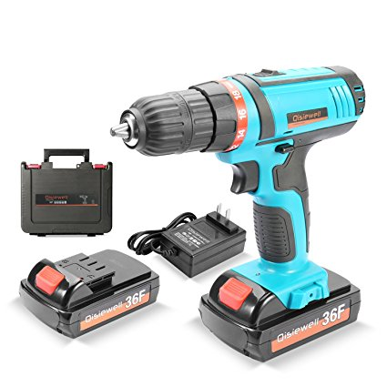 9. Qisiewell 21V Lithium-Ion Cordless Drill Driver