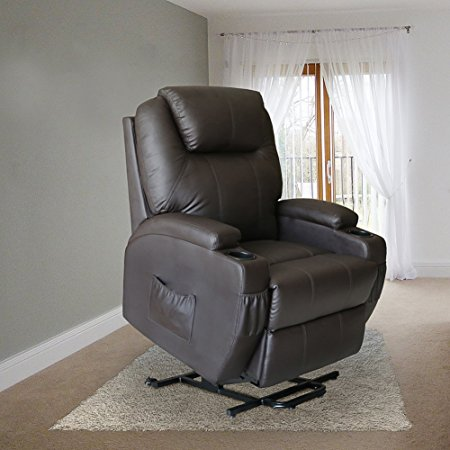 8. MAGIC UNION Deluxe Wall Hugger Power Lift Heated Vibrating Massage Recliner Chair