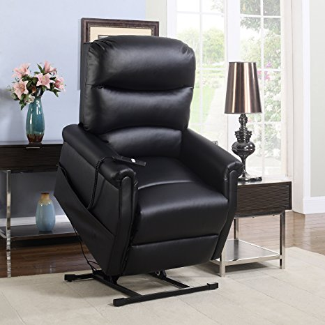 7. Madison Home Classic Plush Bonded Leather Power Lift Recliner