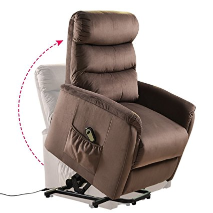 6. Giantex Recliner Power Lift Chair Easy Comfort Recliner