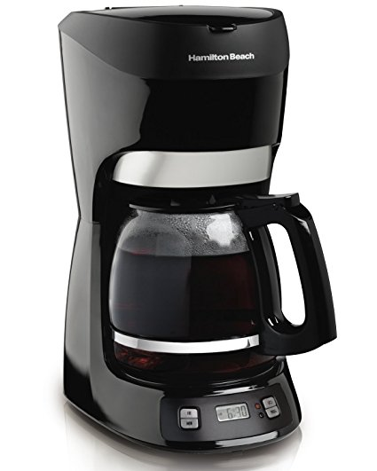 7. Hamilton Beach 12-Cup Coffee Maker with Digital Clock