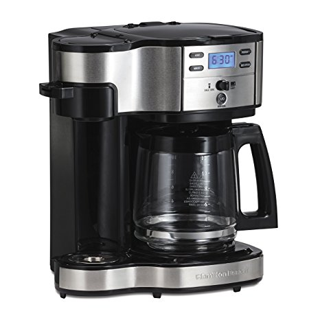 1. Hamilton Beach 49980A Single Serve Coffee Brewer and Full Pot Coffee Maker