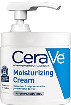 8. CeraVe Moisturizing Cream with Pump 16 oz Daily Face and Body Moisturizer