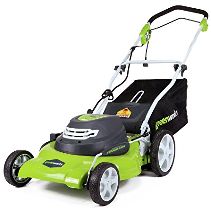 1. Greenworks 20-Inch 12 Amp Corded Lawn Mower
