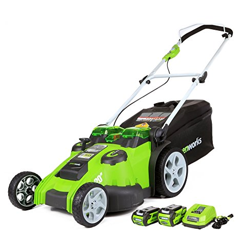 2. Greenworks 20-Inch 40V Twin Force Cordless Lawn Mower