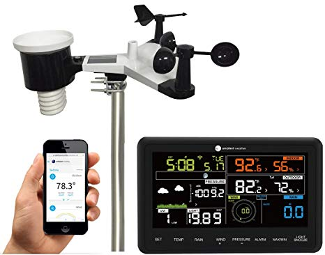2. Ambient Weather WS-2902A 10-in-1 Wi-Fi Professional Weather Station